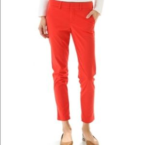 Vince red chinos
